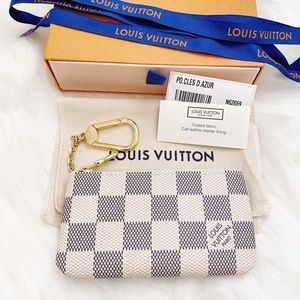 NIB Louis Vuitton Damier Azur Key Pouch